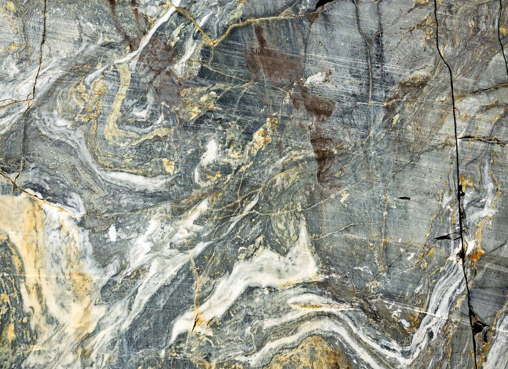 Texture of grey unmanufactured marble