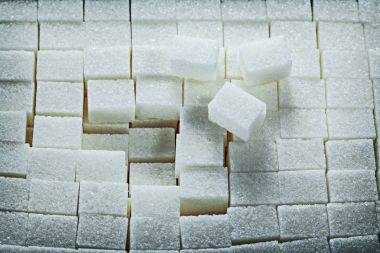 White sweet sugar cubes food concept
