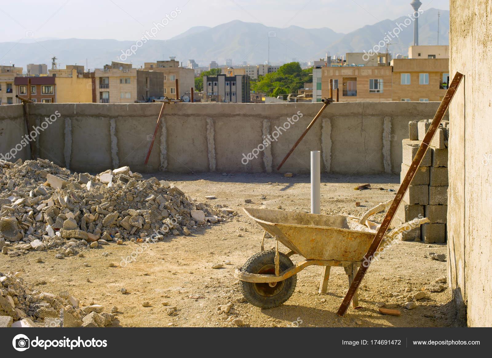 テヘランの建設現場 — ストック写真