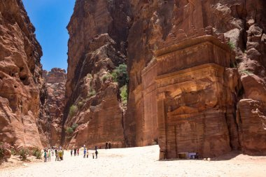 People in front of Petra city