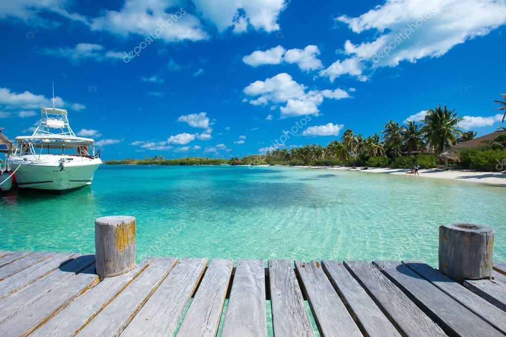Фотообои beautiful beach and tropical sea