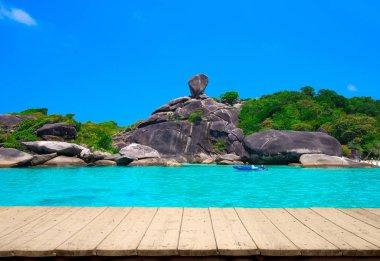 Beautiful sea and blue sky at Similan island, Andaman sea, Thailand stock vector