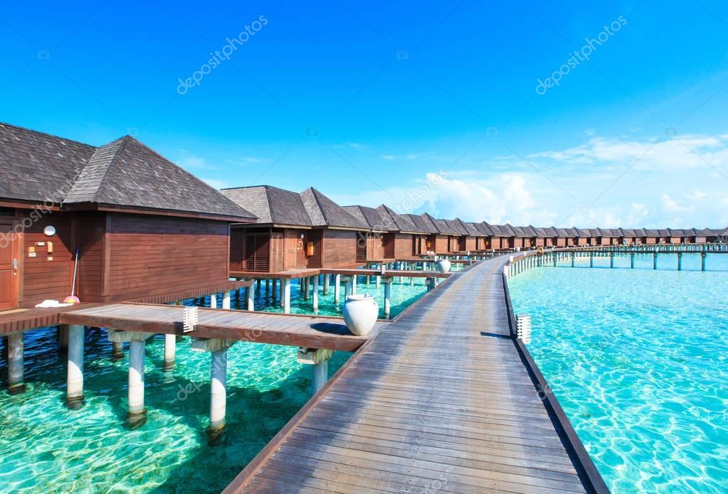 exotic seascape in Maldives