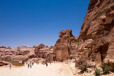 People in front of Petra, Jordan
