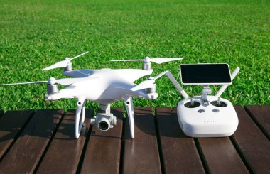 drone quad copter with high resolution digital camera