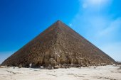 pyramid with beautiful sky of Giza