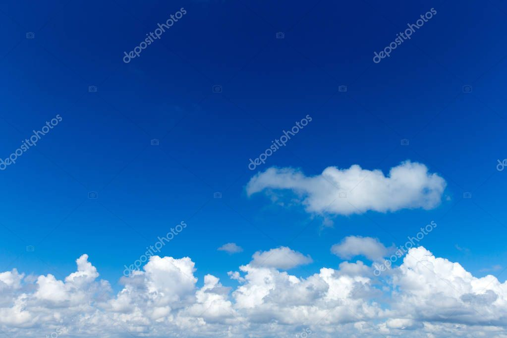 Beautiful azure sky with clouds