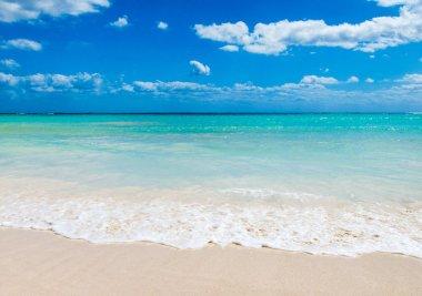Sea  background.  tropical beach in Maldives stock vector