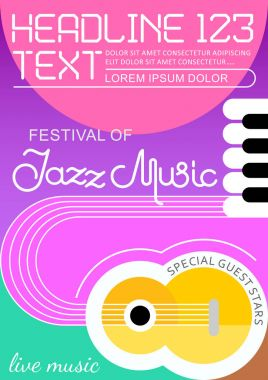 Jazz Music poster template design
