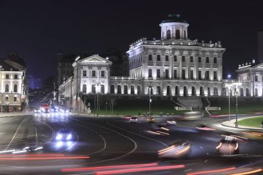 Lenin library in Moscow in the night