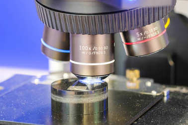 image of microscope close up