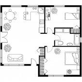 Vektorova Grafika Podkrovi V Chate Architektonicky Plan Domu
