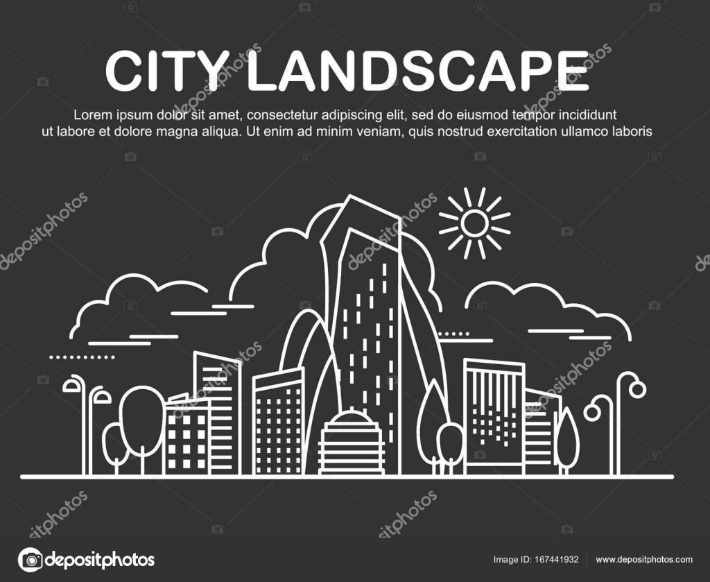 Plantilla de paisaje de la ciudad — Vector de stock © ivofet #167441932