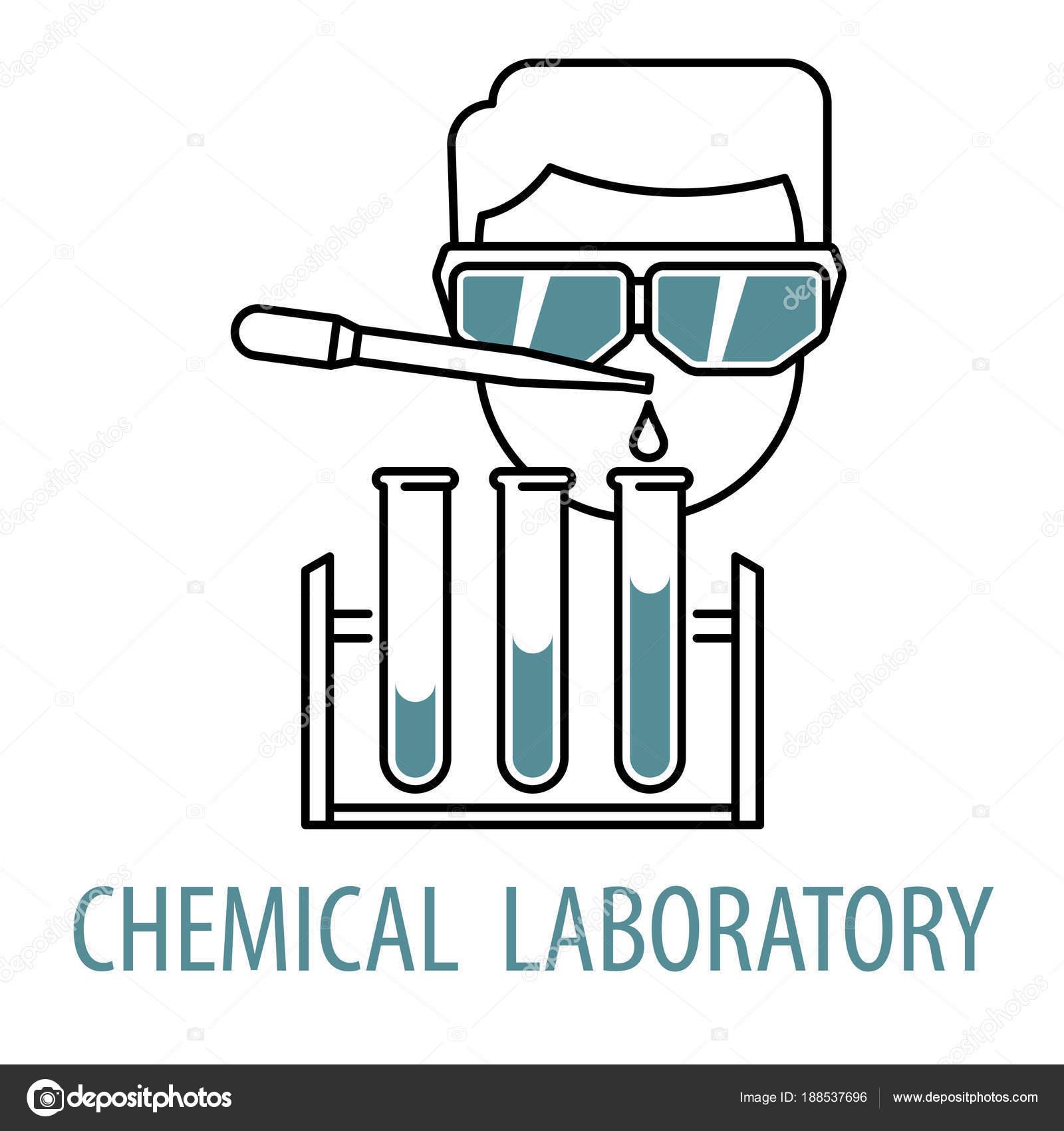 Plantilla de logotipo de laboratorio químico — Vector de stock ...