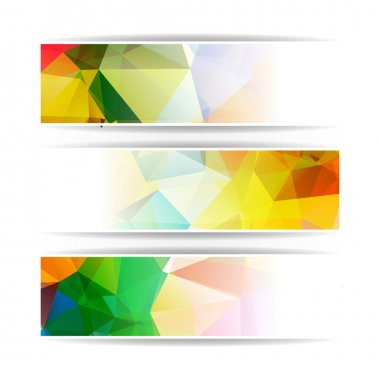Abstract set of colorful banners