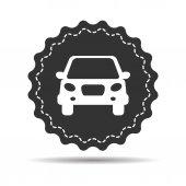 Photo black flat car button icon