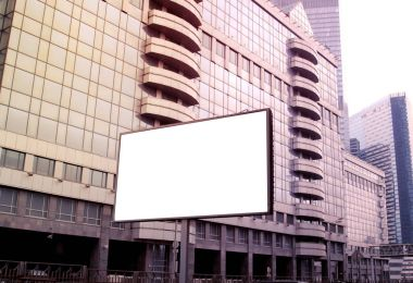 billboard blank for outdoor advertising poster