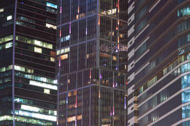 Close up of modern skyscraper