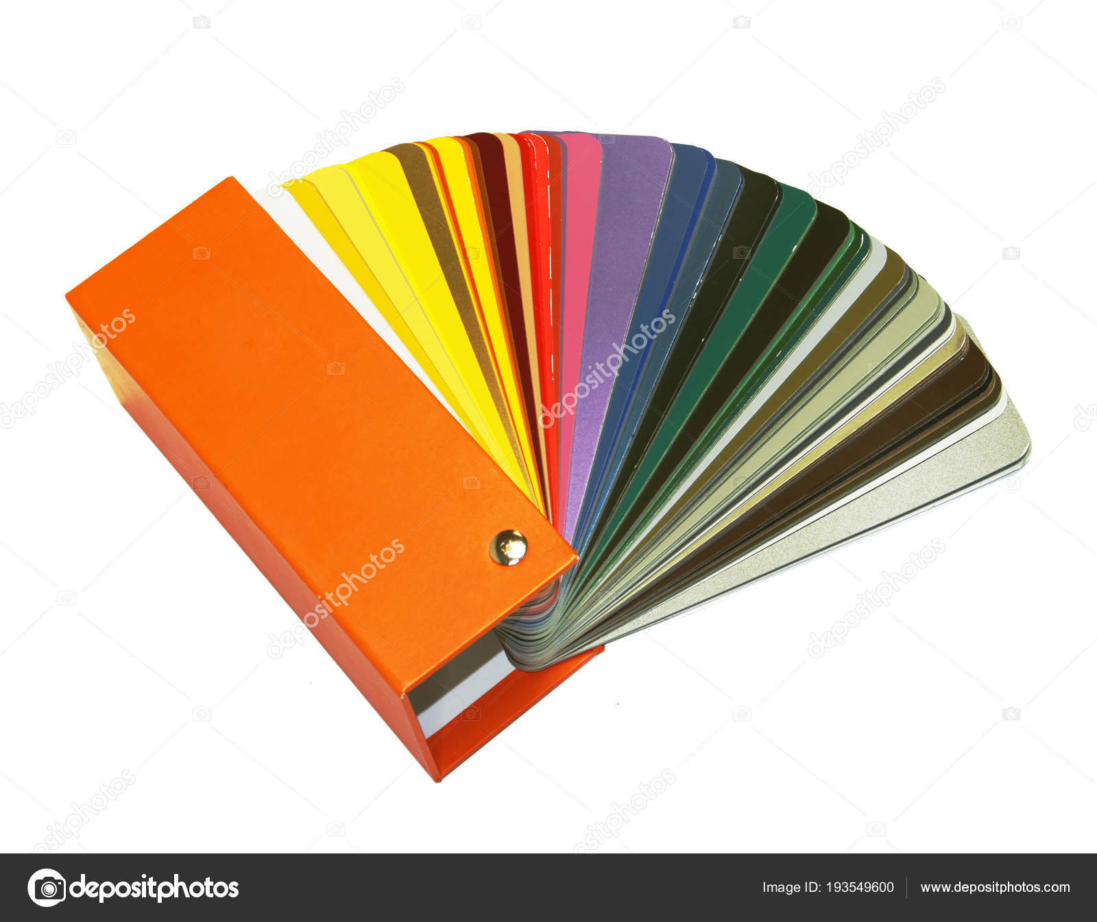 ral sample colors catalogue white background stock photo