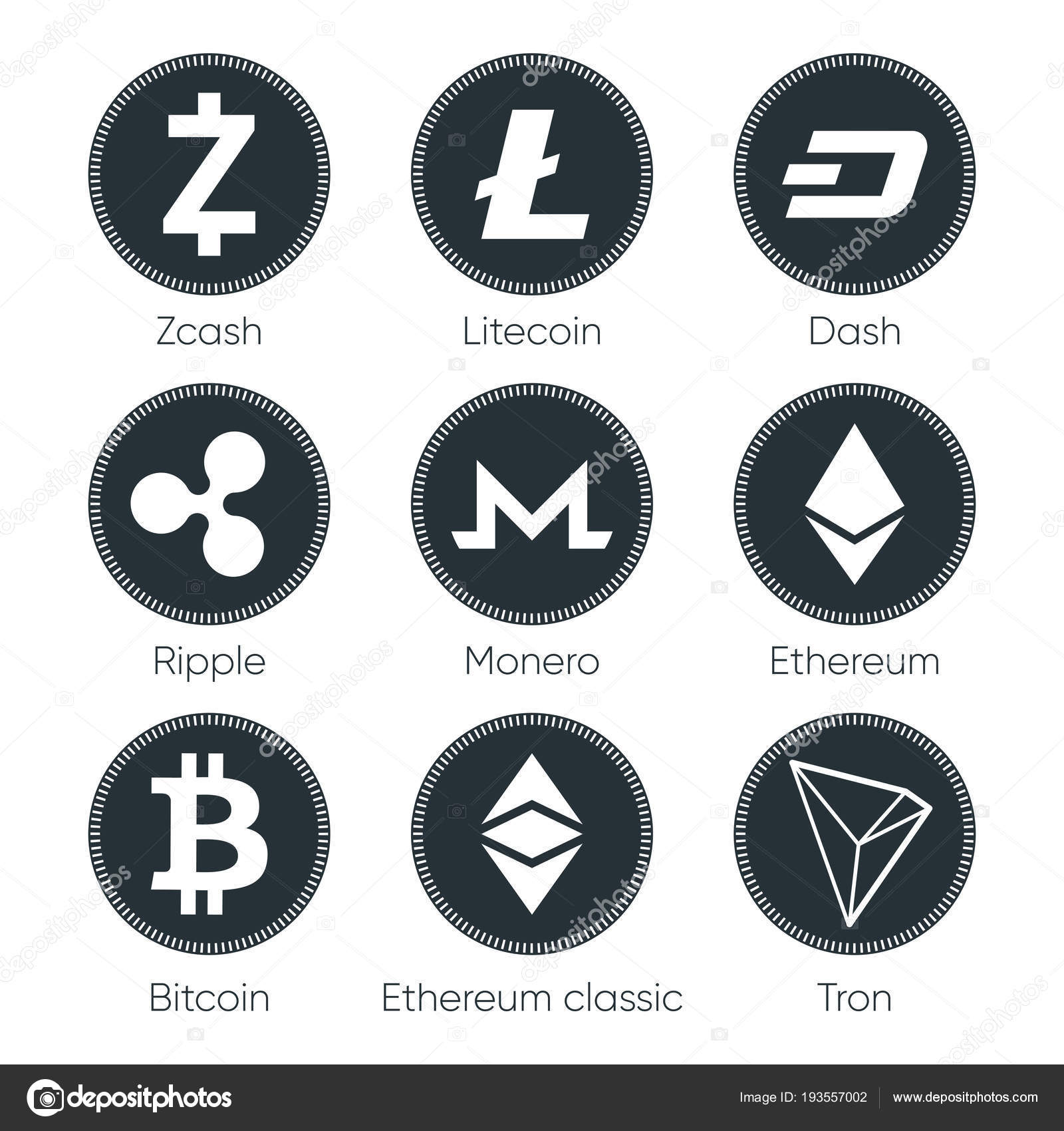 are cryptocurrencies such as bitcoin ethereun ripple litecoin monero money