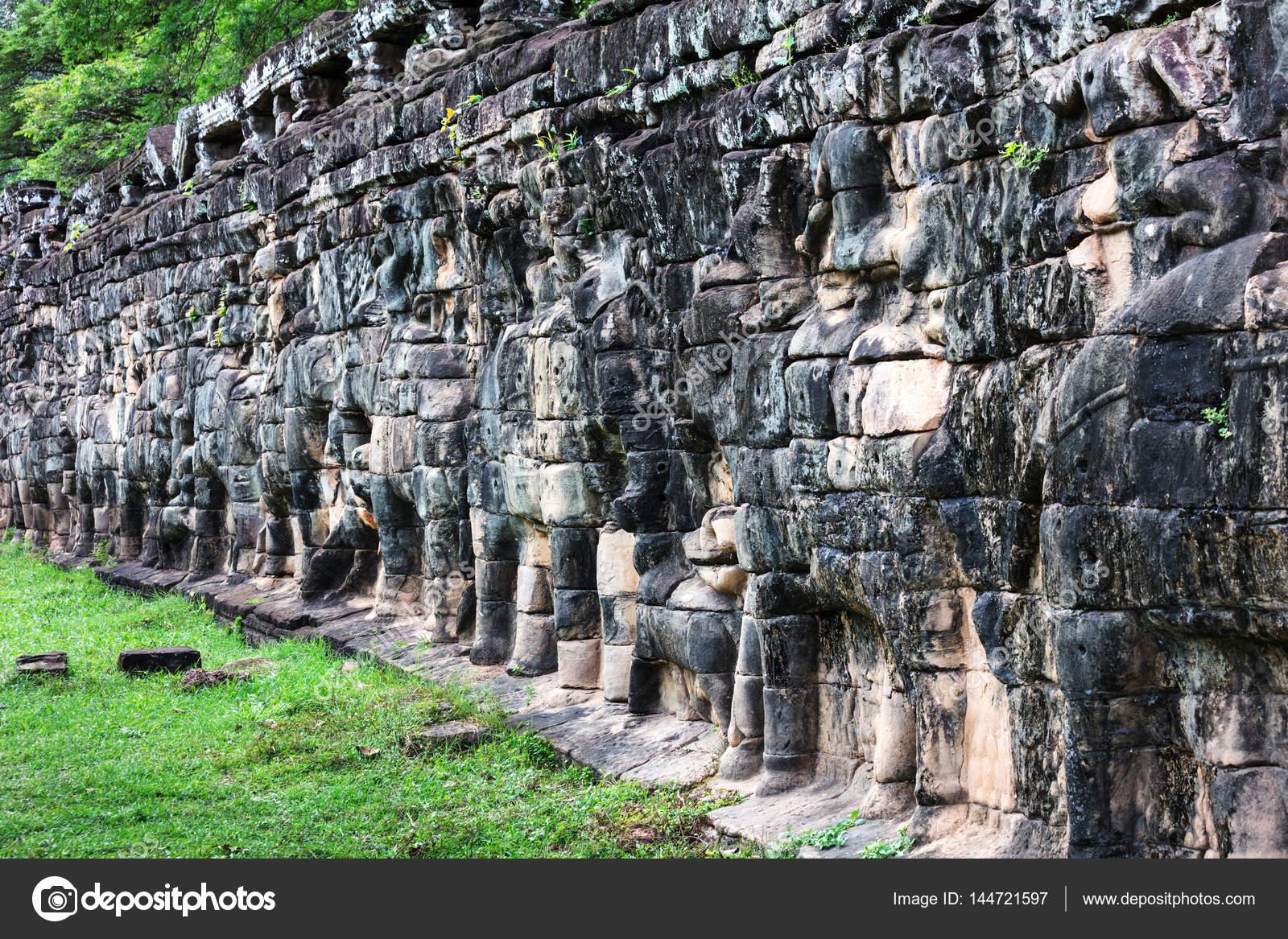 Terraza De Los Elefantes En Angkor Thom Complejo Foto De