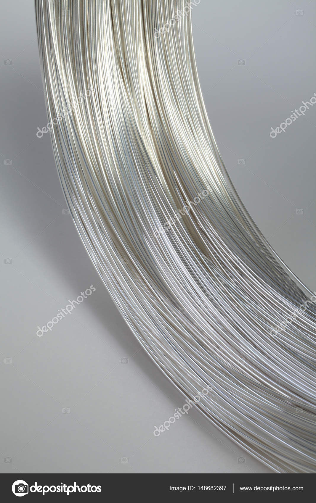 Wire made of platinum silver color for electronic and jewelry ...
