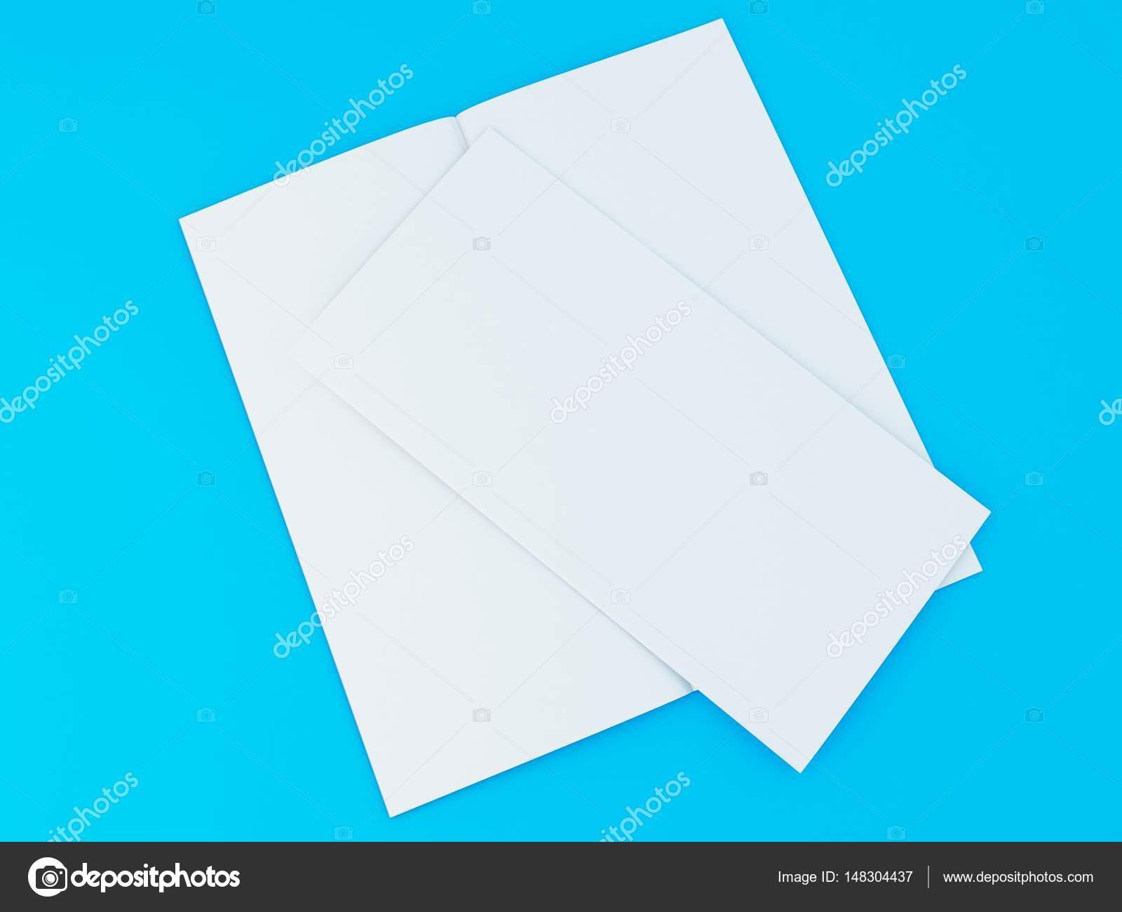 3D Abbildung der Broschüre Vorlage auf farbigem Hintergrund ...
