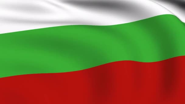 Flying Flag of Bulgaria LOOPED