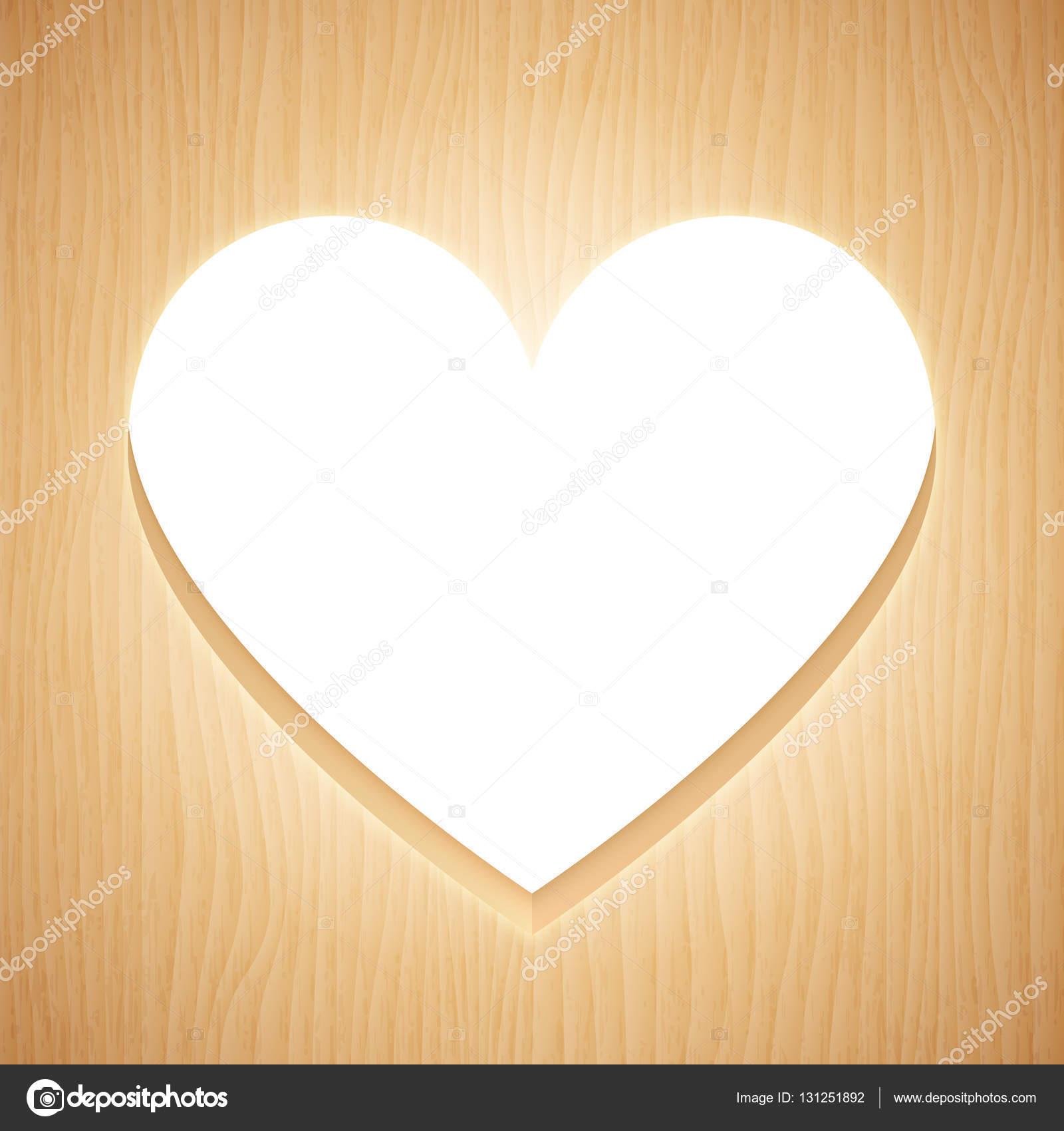 Heart Shaped Wood Frame — Stock Vector © timurock #131251892