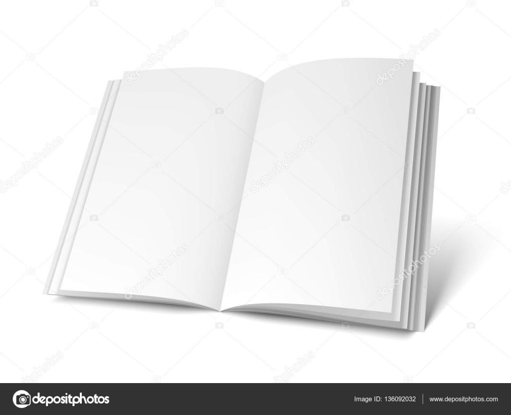 Geöffnete weiße Buch Vorlage — Stockvektor © timurock #136092032