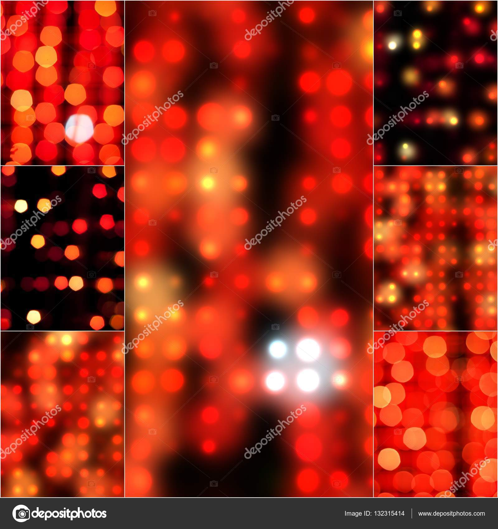 Blur Abstract Background Bokeh Effect In Red Color Blurred Light Vintage Retro Tone Blurry Circles For Christmas