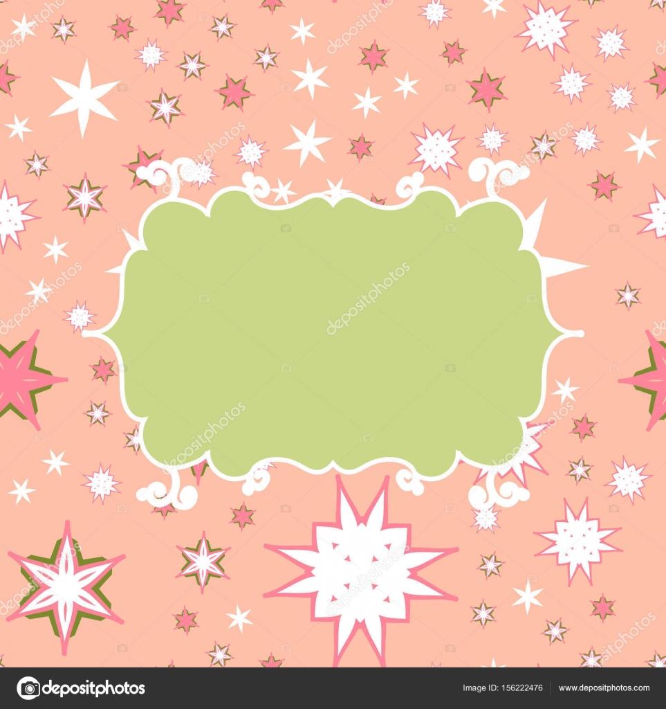 Scrapbooking grün rosa Vorlage mit Platz für Text für Einladung ...