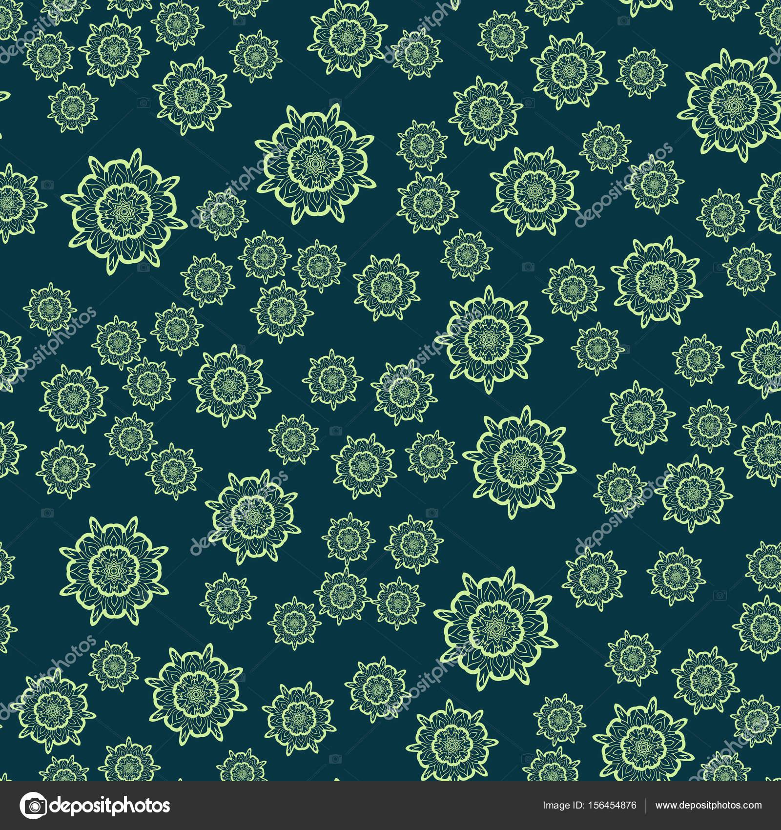 Mandala flor verde oscuro transparente para la impresión de materia ...