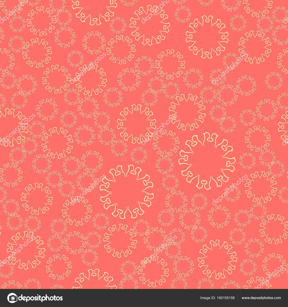 Seamless pink flower mandala for print on textile, fabric, coloring ...