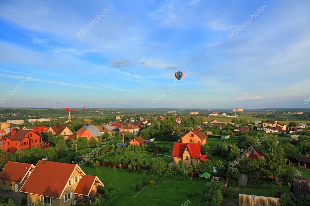 flight over the village