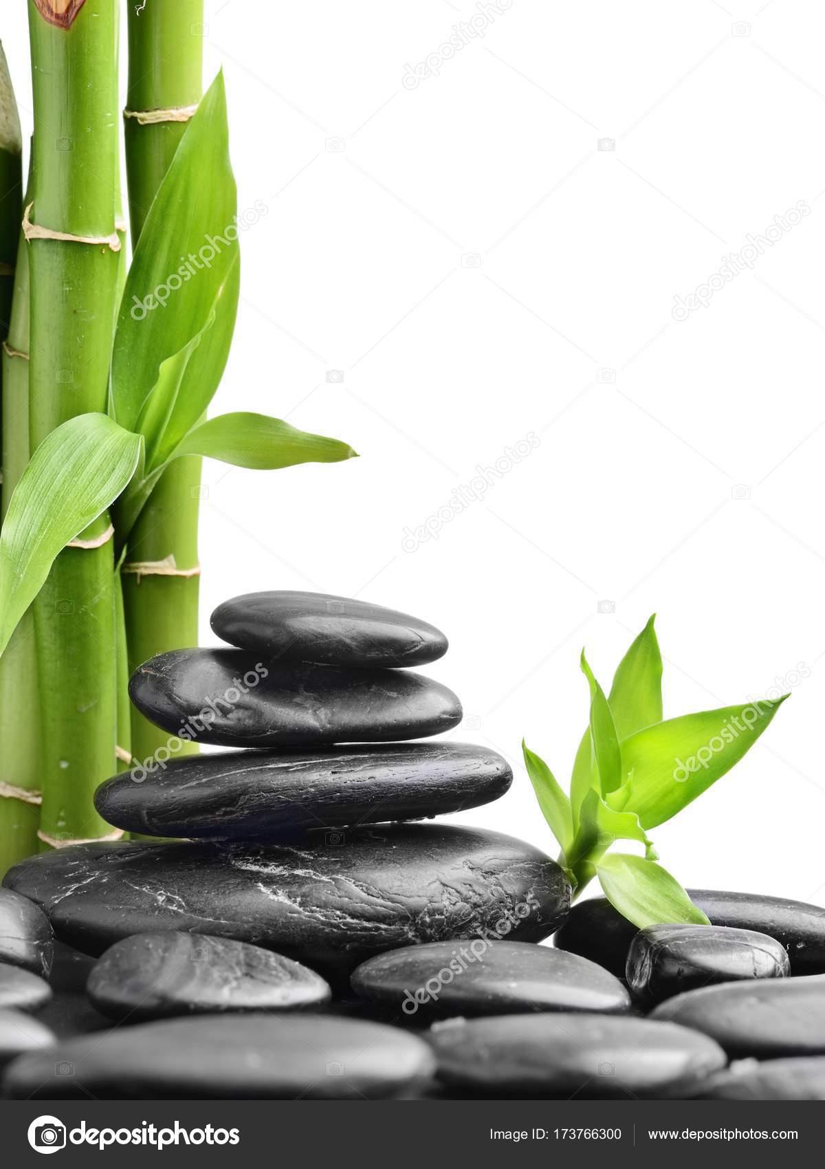 Zen Steine Und Bambus Auf Der Weissen Stockfoto C Scorpp 173766300