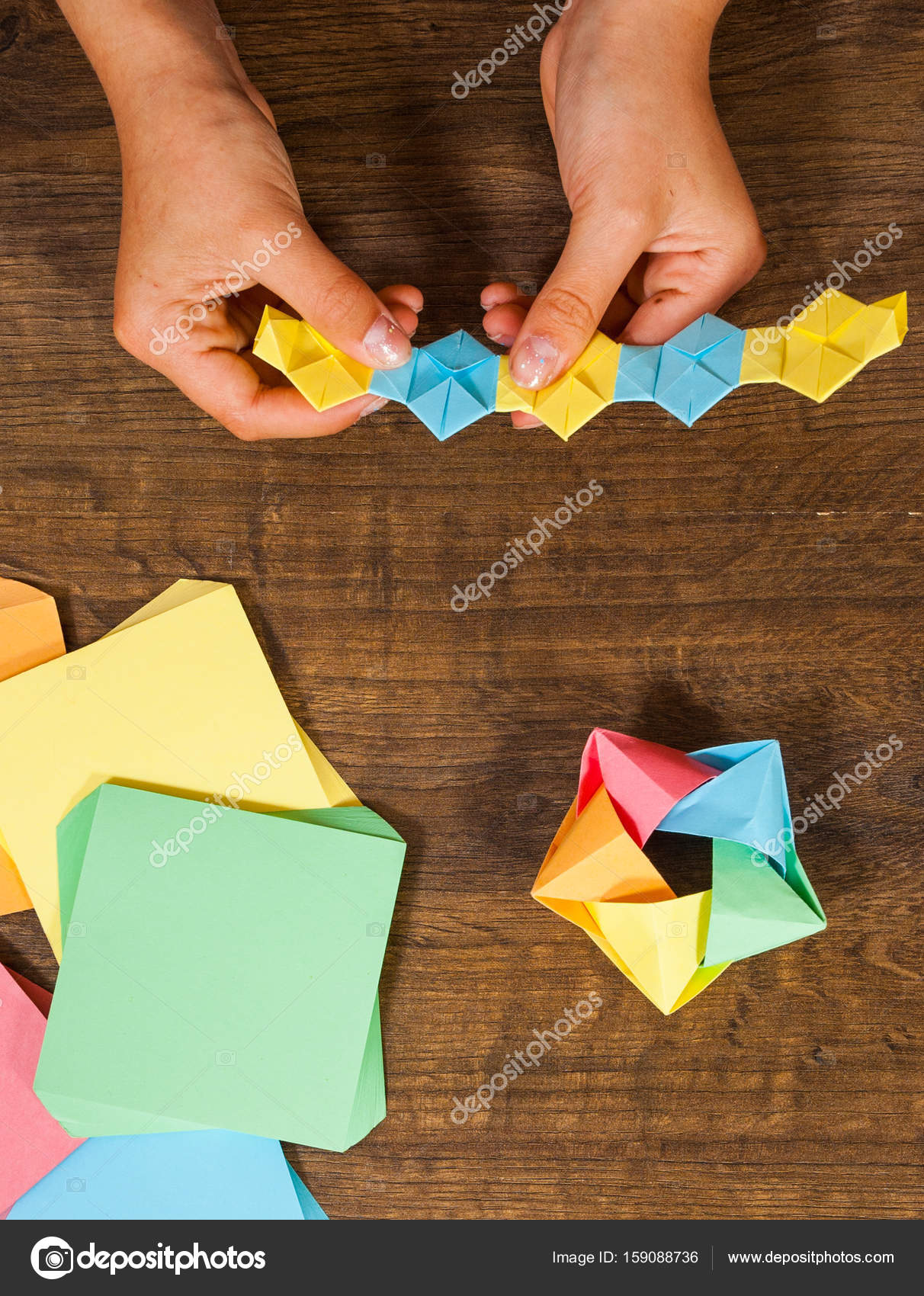 Children S Creativity Made Of Paper Origami Crafts Handicrafts For
