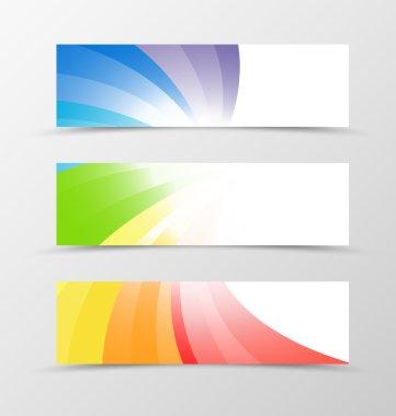 Set of banner design