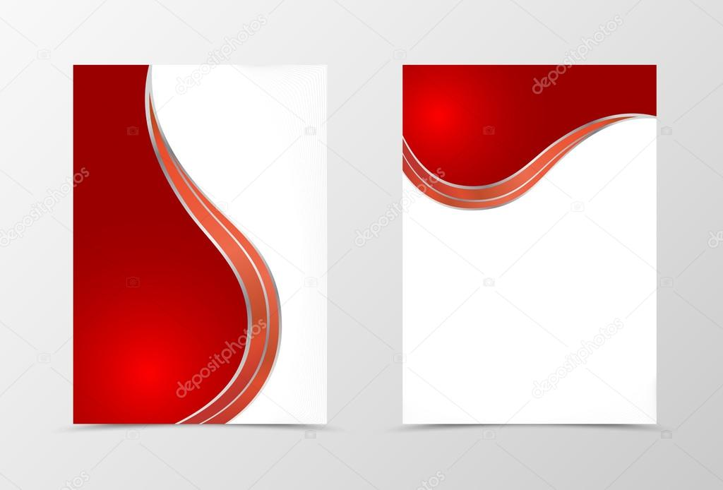 Flyer template design in red color