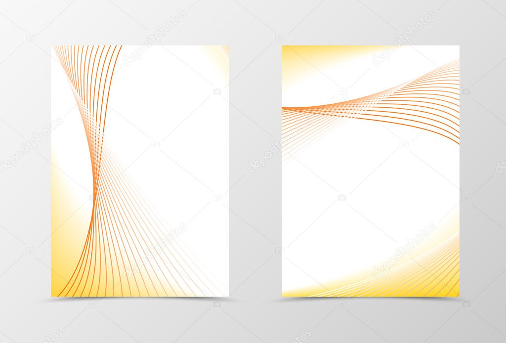 Smooth flyer template design