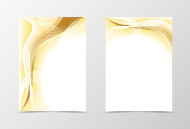 Gold flyer template design