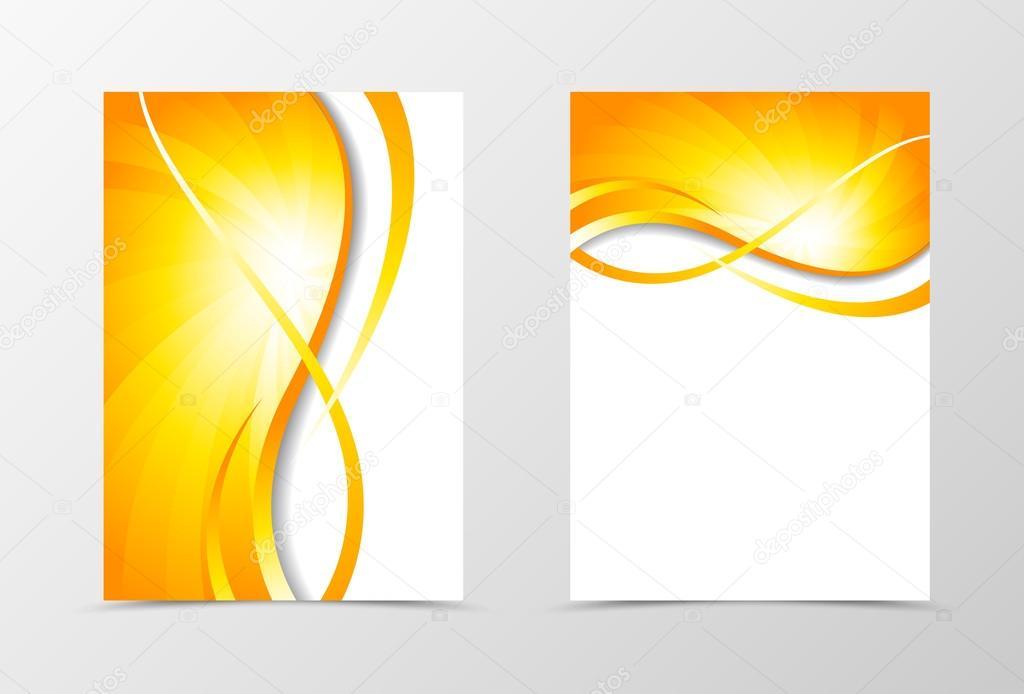 Flyer template vortex design