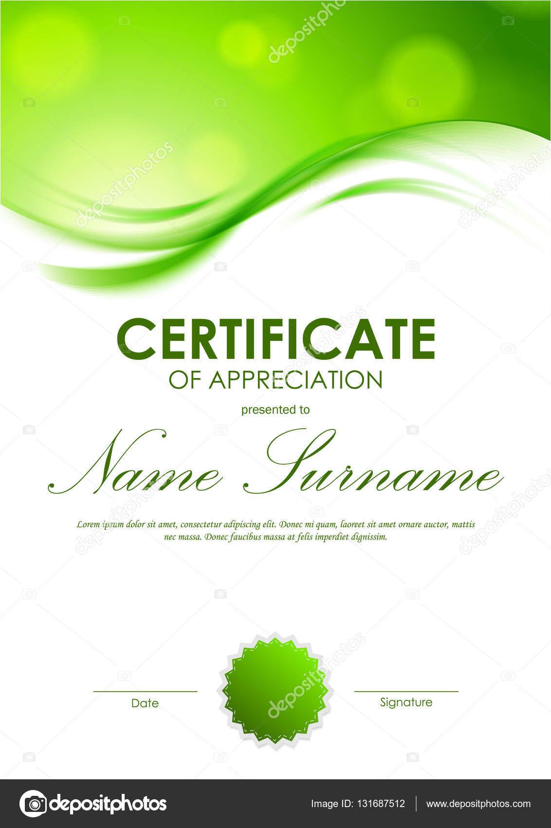 certificate of appreciation template  u2014 stock vector