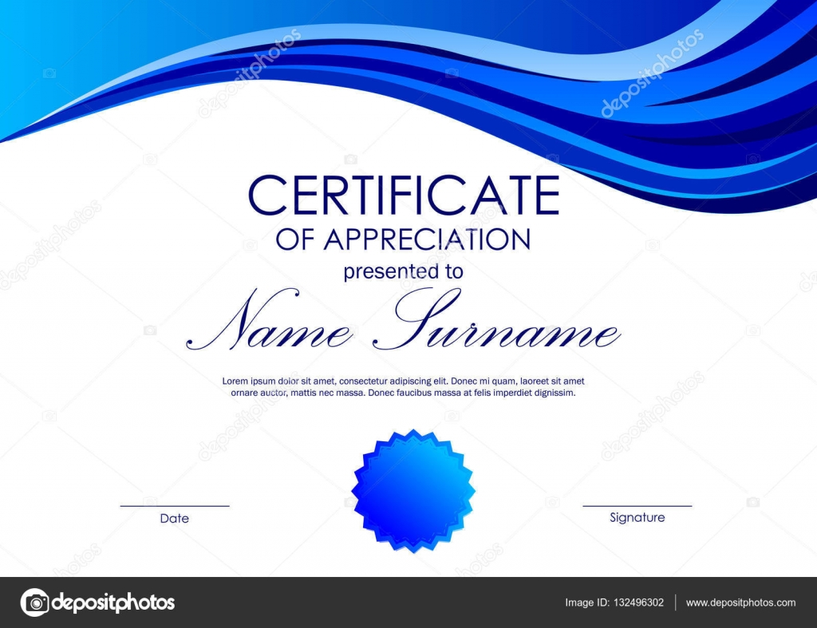 template for certificate of appreciation