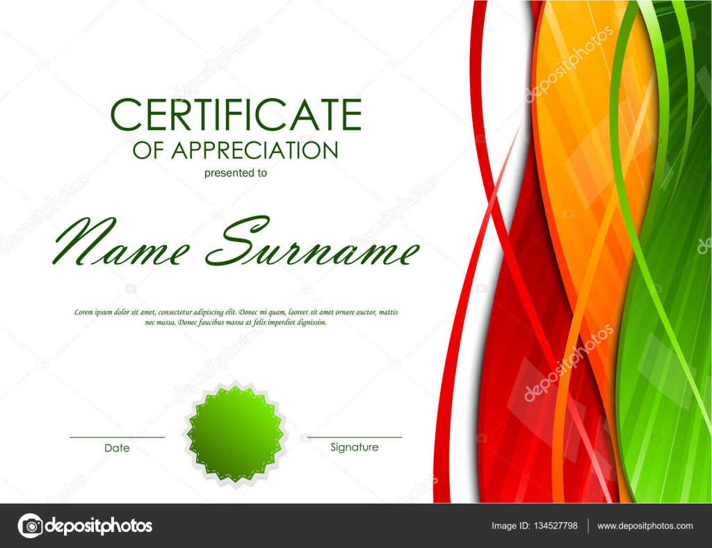 appreciation certificate of recognition template