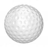 golfový míček na bílém pozadí