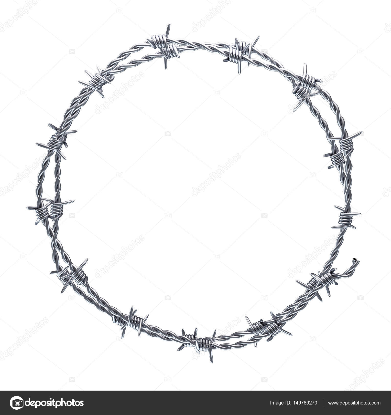 Barbed wire wreath — Stock Photo © julydfg #149789270