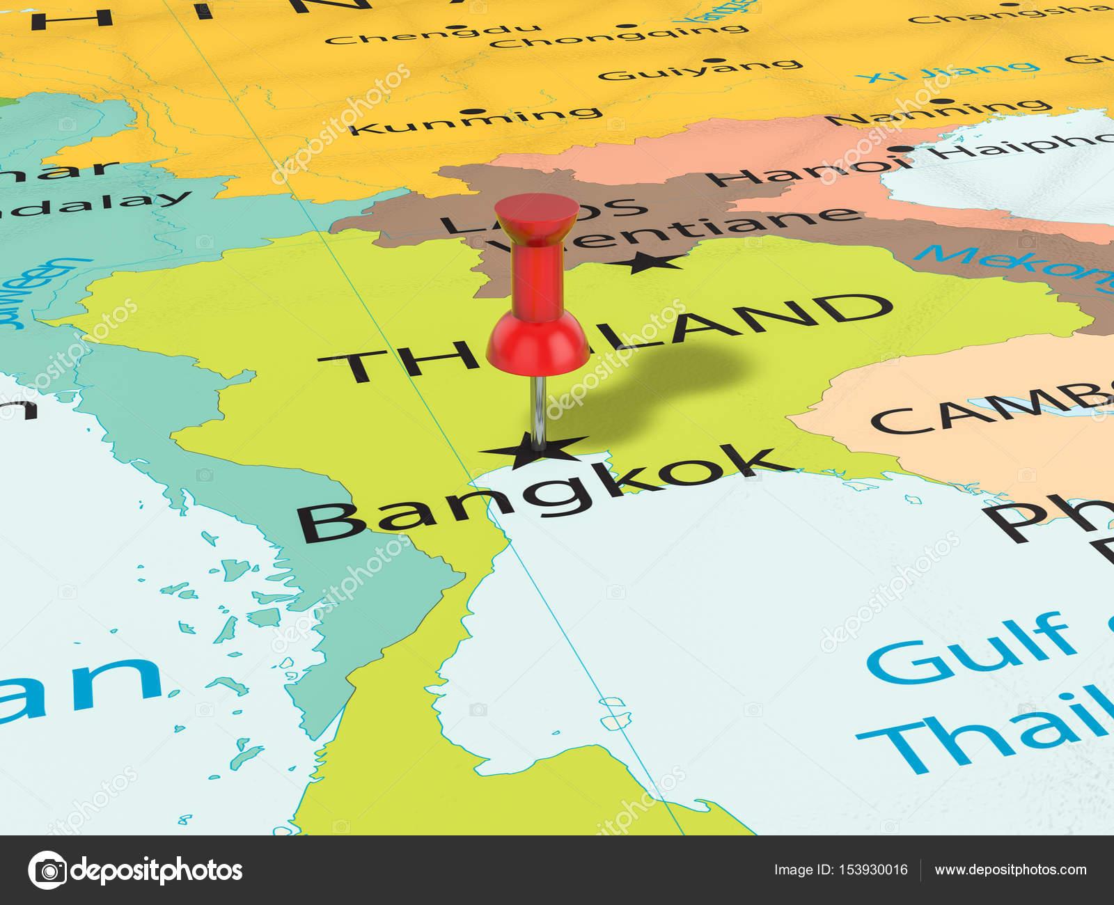 Bangkok Karte.Pin Auf Bangkok Karte Stockfoto Julydfg 153930016