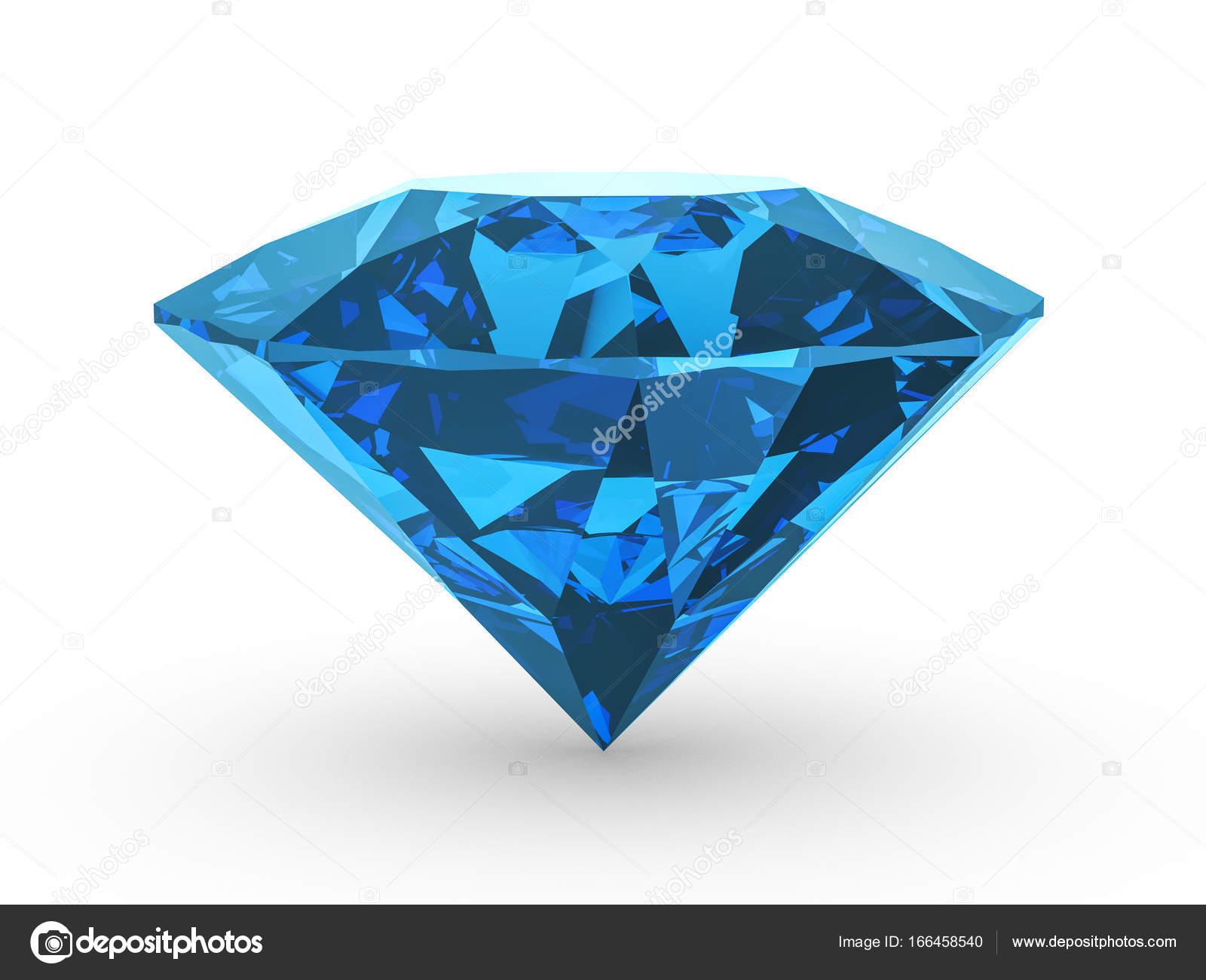 Diamante azul no branco — Fotografia de Stock
