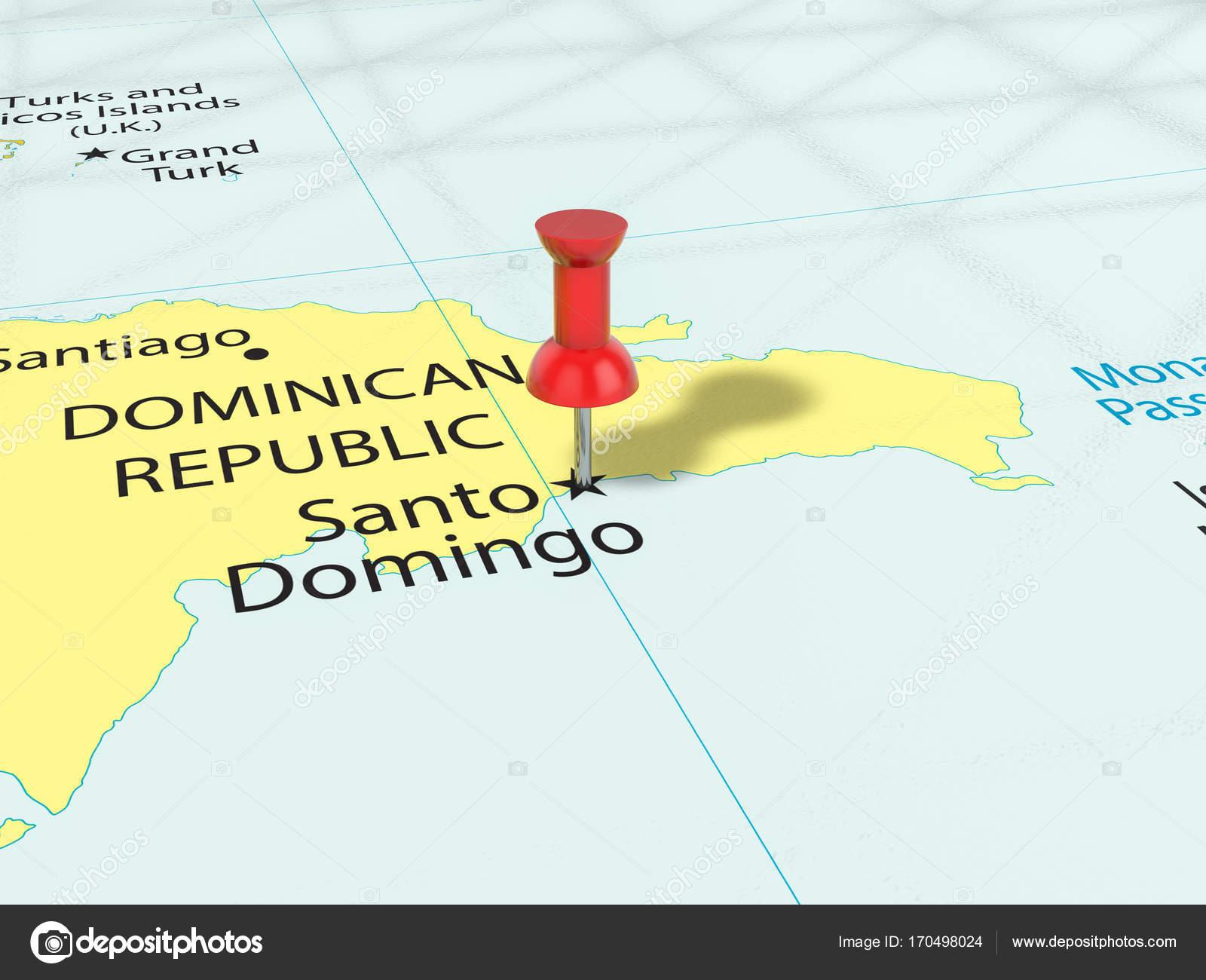 Pushpin on Santo Domingo map — Stock Photo © julydfg #170498024 on veracruz on a map, ambergris caye on a map, bogotá on a map, st. augustine on a map, kiel canal on a map, ciudad de mexico on a map, cancún on a map, windhoek on a map, sao paulo on a map, maputo on a map, bucaramanga on a map, san juan del sur on a map, mar del plata on a map, majuro on a map, san paulo on a map, calbuco on a map, hermosillo on a map, havana on a map, san pedro sula on a map, salta on a map,
